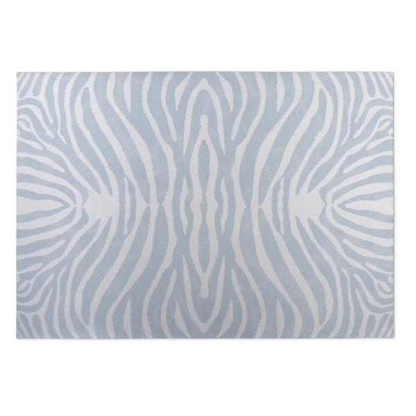 Kavka Designs Blue/Ivory Safari Indoor/Outdoor Floor Mat - 8' x 10'
