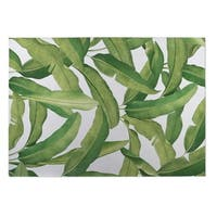 Kavka Designs Green Banana Leaves Indoor/Outdoor Floor Mat - 8' X 10'