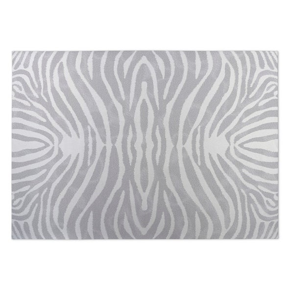 Kavka Designs Grey/Ivory Safari Indoor/Outdoor Floor Mat (8' X 10')