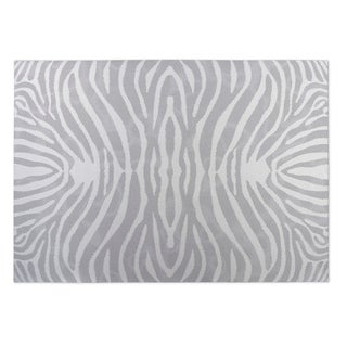 Kavka Designs Grey/Ivory Safari Indoor/Outdoor Floor Mat (8' X 10')