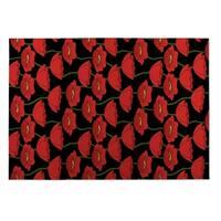 Kavka Designs Red/Green/Black Flanders Fields Indoor/Outdoor Floor Mat - 8' X 10'