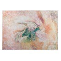 Kavka Designs Blue/Blush/Pink Marble Nebula Indoor/Outdoor Floor Mat - 8' X 10'