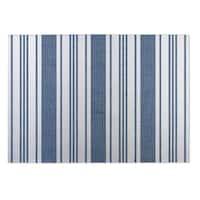 Kavka Designs Blue/White Orleans Blue Indoor/Outdoor Floor Mat - 8' X 10'