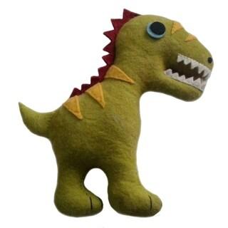 Handmade Felted Friend Dinosaur Design (Kyrgyzstan)