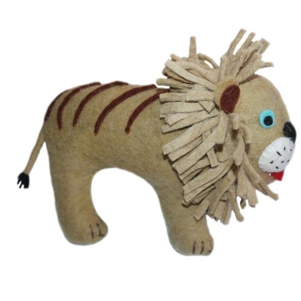 Handmade Felted Friend Lion Design (Kyrgyzstan)