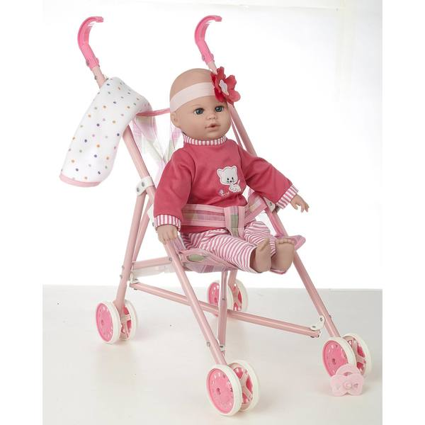 """16"""" Baby Doll and Stroller Set"""