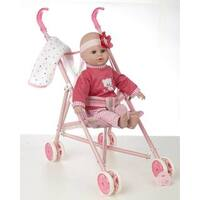 "16"" Baby Doll and Stroller Set"