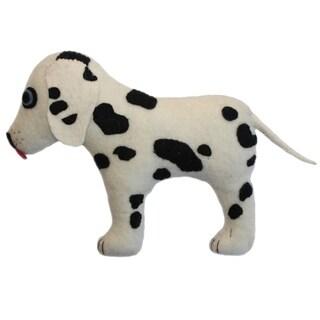 Handmade Felted Friend Dalmatian Design (Kyrgyzstan)