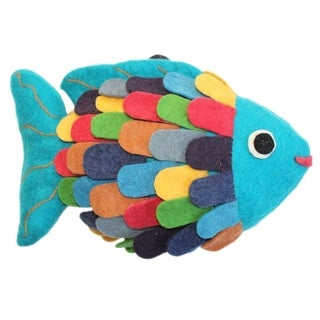Handmade Felted Friend Fish Design (Kyrgyzstan)
