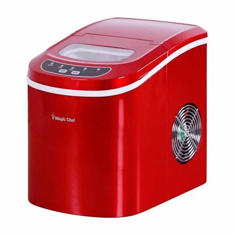 Magic Chef 27-lb. Countertop Ice Maker - Red