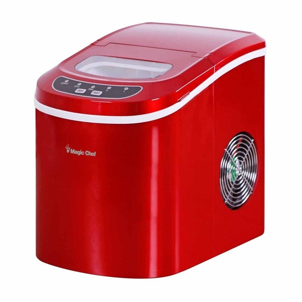 Magic Chef 27-lb. Countertop Ice Maker - Red