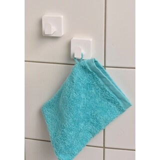 Evideco Bath Shower Hook Sali Adhesive or Wall Mount Set of 2