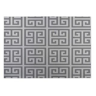 Kavka Designs Grey Infinity Keys Indoor/Outdoor Floor Mat (8' X 8')