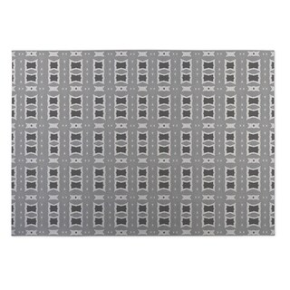 Kavka Designs Grey Crossroads Indoor/Outdoor Floor Mat (8' X 8')