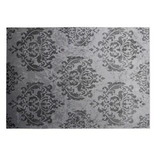 Kavka Designs Grey Damask Indoor/Outdoor Floor Mat (8' X 8')