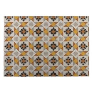 Kavka Designs Brown/Gold/Grey Diamond Tiles Indoor/Outdoor Floor Mat (8' X 8')