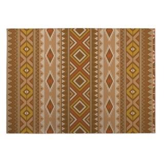 Kavka Designs Brown Santa Fe Indoor/Outdoor Floor Mat (8' X 8')