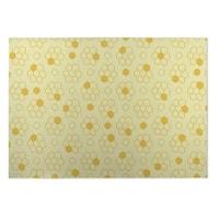 Kavka Designs Yellow Bees Indoor/Outdoor Floor Mat (8' X 8') - 8' x 8'