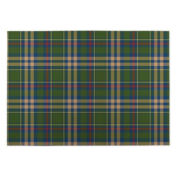 Shop Kavka Designs Green Blue Red Fall Plaid Indoor