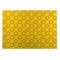 Kavka Designs Yellow/Orange Sunshine Indoor/Outdoor Floor Mat (8' X 8') - 8' x 8'