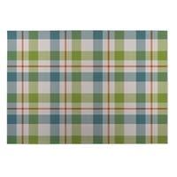 Kavka Designs Green/Blue/Orange Fishing Plaid Indoor/Outdoor Floor Mat (8' X 8') - 8' x 8'