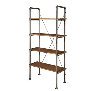 Brooklyn Scaffolding Metal Pipe & Solid Alder Wood Shelving