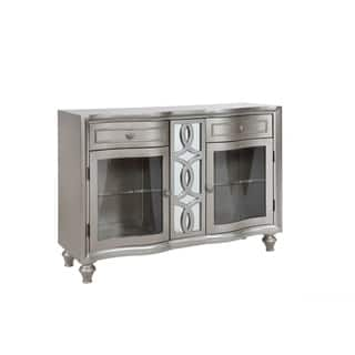 Park Ave Pearlized Platinum Sideboard