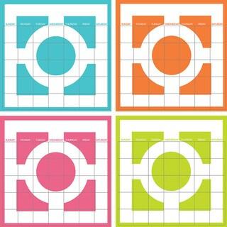 WallPops Chroma 4-piece Calendar Decal Set