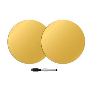 Gold Foil Dry Erase Dot Decals