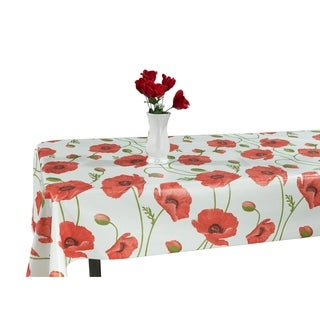 Berrnour Home Indoor & Outdoor 55x70 Tablecloth with NonWoven Backing