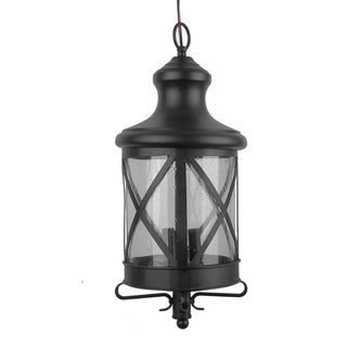 Y-Decor Taysom Exterior Light in Black Finish with Clear Seedy Glass