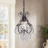 Kerime Antique Bronze Metal and Crystal 1-light Pendant