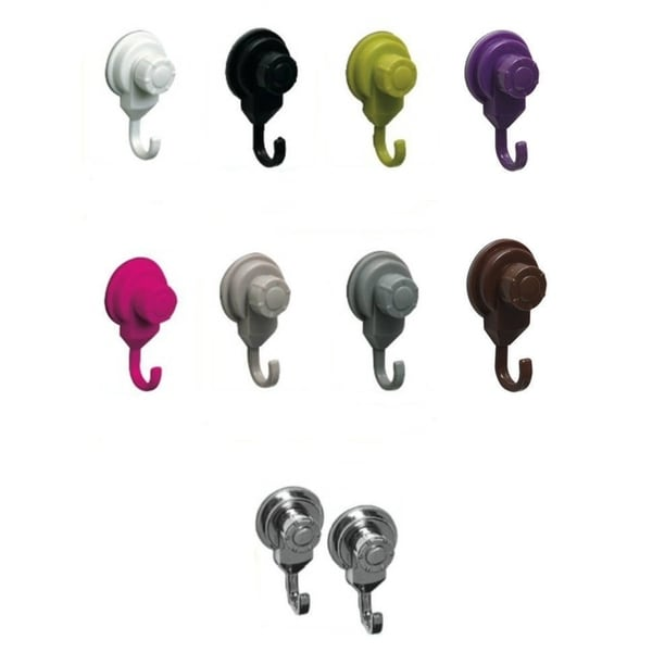 Evideco Strong Hold Suction Hooks -Bath-Kitchen-Home- Set of 2