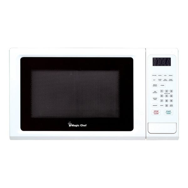 Magic Chef 1 Cubic Ft Countertop Microwave Oven White