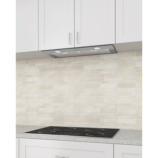 Ancona Inserta Plus 28 in. Built-In Range Hood in Stainless Steel