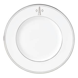 Lenox Federal Platinum Bone China 9-inch Block Monogram Accent Plate