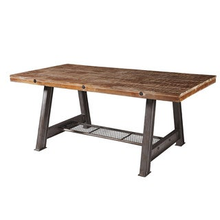 Brooklyn A Frame Industrial Steel   Oak Dining Table   MultiSafavieh Ludlow Oak Round Dining Table   Free Shipping Today  . Safavieh Ludlow Dining Table. Home Design Ideas