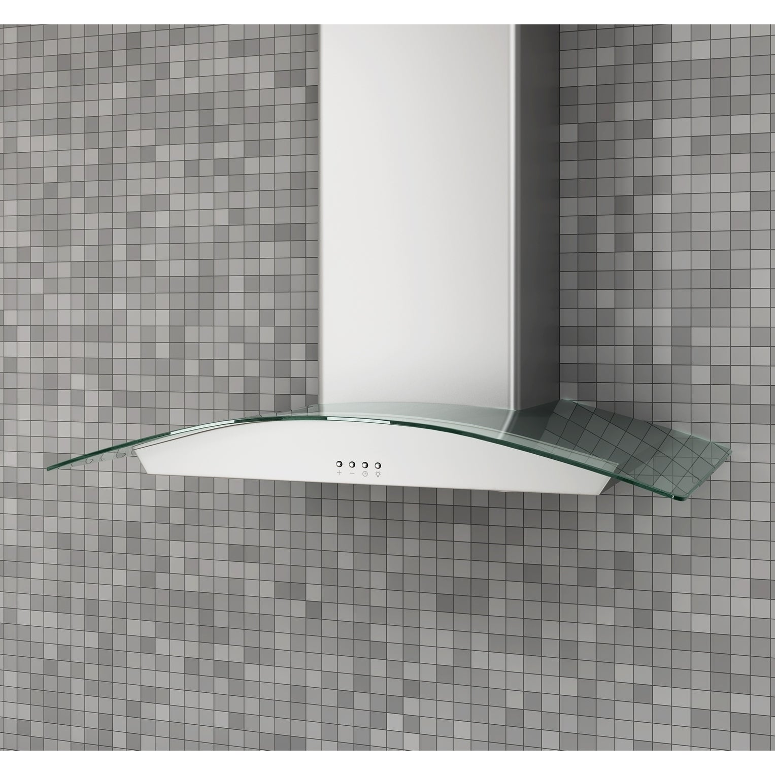 Ancona 30 in. Glass Canopy 400 CFM Convertible Wall Mount...