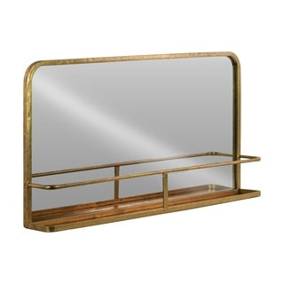 UTC39581 Metal Rectangle Shelf Metallic Finish Gold
