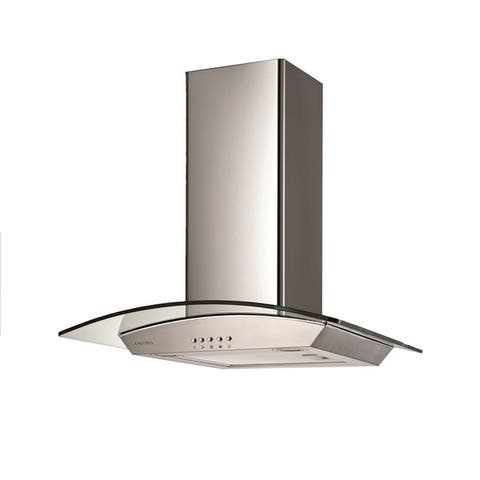Ancona 30 in. Glass Canopy 400 CFM Convertible Wall Mount Range Hood