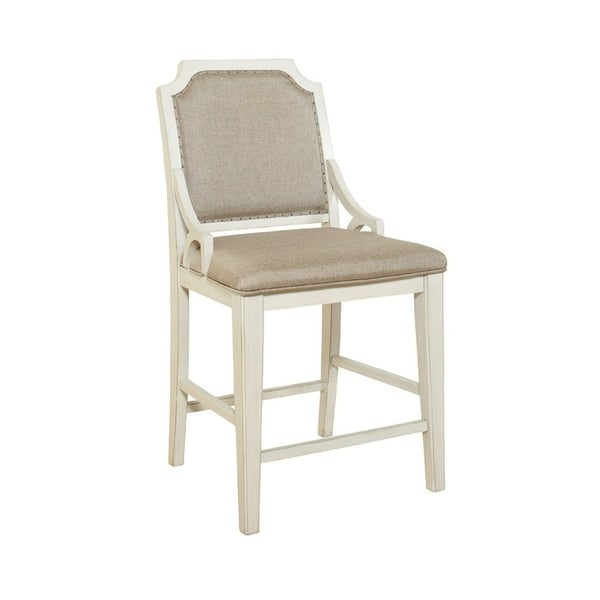 Madeline Brown & Whitewashed Solid Wood Gathering Chair