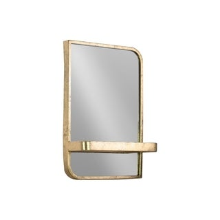 UTC39595 Metal Rectangle Shelf Metallic Finish Gold