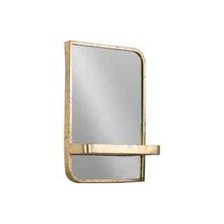 UTC39595 Metal Rectangle Shelf Metallic Finish Gold