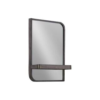 UTC39596 Metal Rectangle Shelf Metallic Finish Gray