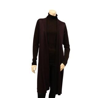 August Silk Double Faced Knee Length Vest