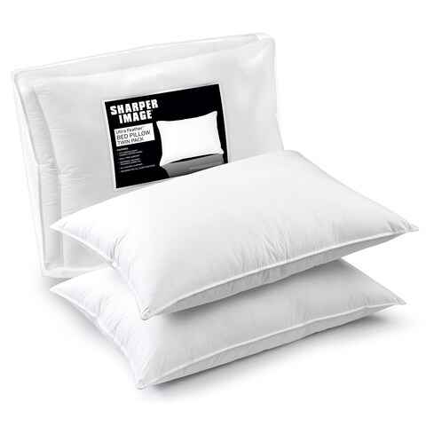 Sharper Image Ultra Feather Bed Pillow (Set of 2) - White