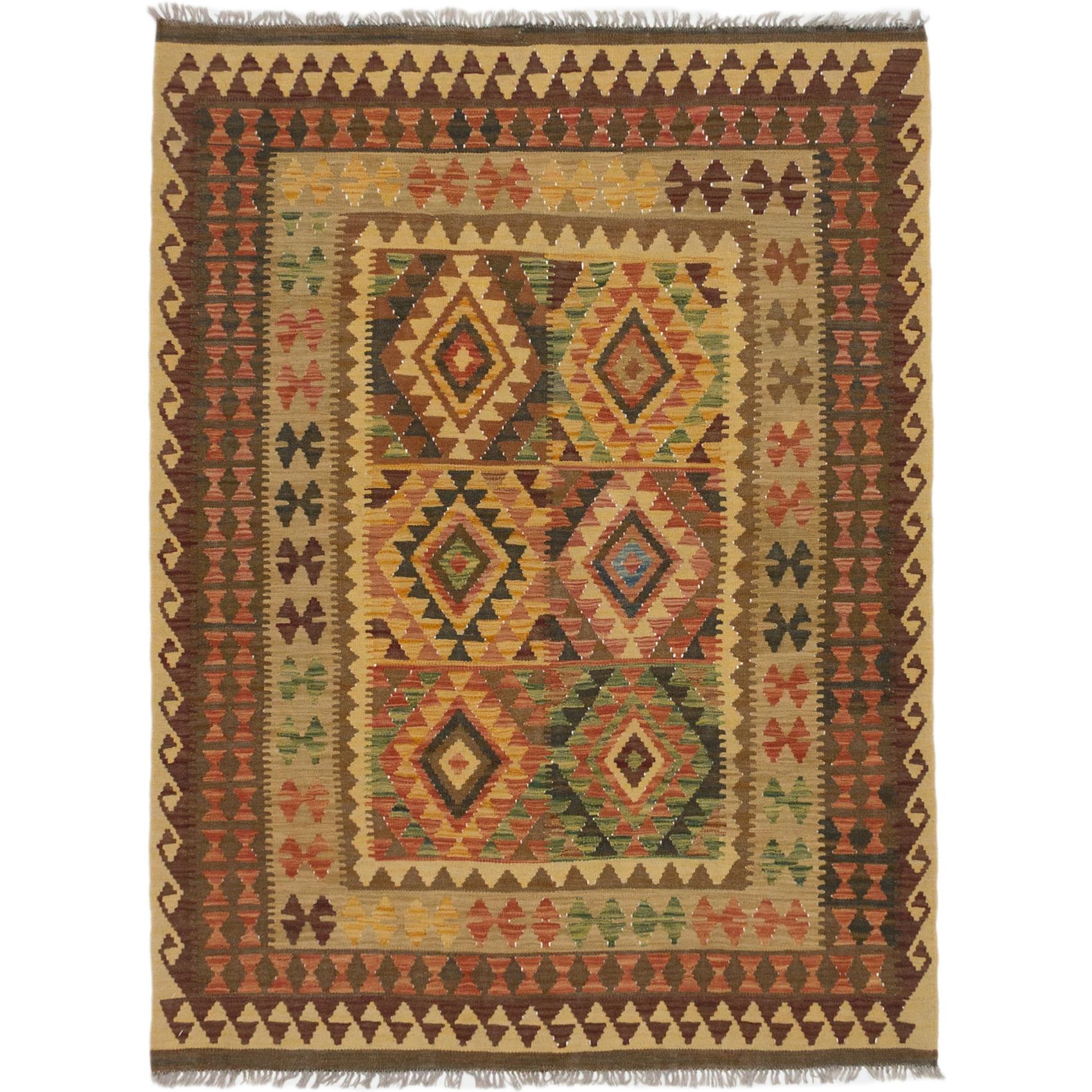 Flat Weave Anatolian Copper Gold Wool Kilim On Sale Overstock 17040125