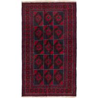 eCarpetGallery Red Wool Hand-knotted Bahor Rug - 3'6 x 6'2