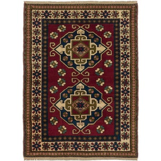 eCarpetGallery Caucasus Shirvan Red Wool Hand-knotted Rug (4'10 x 6'6)