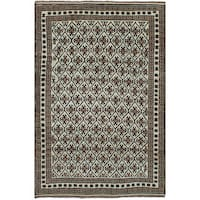 eCarpetGallery Hand-knotted Color Transition Blue/Brown Wool Rug - 5'7 x 8'6